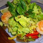 Salada de camarão Black Tiger