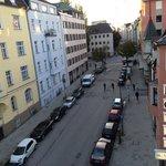 Side view from balcony towards Leopoldstrasse Street