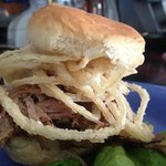 BBQ Pork Sliders!! YUM!