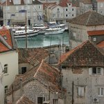 View from top of church tower in Trogir