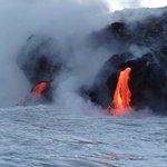 Coastal lava entry