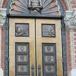 One of the front doors