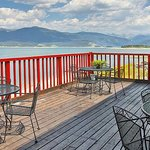 Deck overlooking Lake Granby