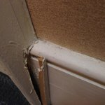 3 inch splinter by the closet door