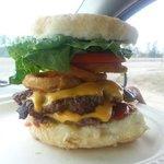 Famous Kokom Bannock Burger