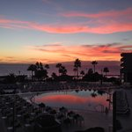 My last evening meal looking out at the sunset from the terrace fantastic