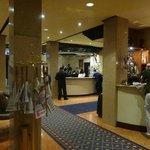 A recepção e o bar