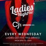 Ladies' Night every Wednesday