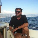 Enjoying water taxi from Portofino