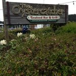 Welcoming signage for the Oystercatcher Restaurant, Salt Spring Island, BC
