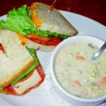 Chowder and sandwich lunch special