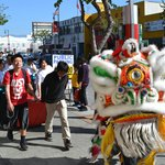 Lion Dancer Walking By