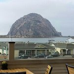 View of Morro Rock from our table.