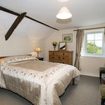 One of the bedrooms at Combeshead farm on Exmoor