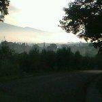 paesaggio mattutino dal POGGIO DEGLI OLIVI