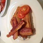 Eggy Bread, Crispy Bacon, Tomatoes
