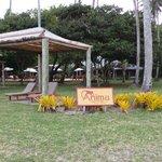 Il resort dalla spiaggia