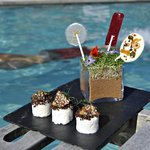 Dessert by the pool