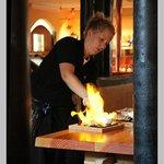 Flambering af Oksekød