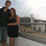 Us on Balcony view of Benidorm