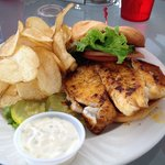 Tilapia sandwich at Guys Gulfside Grill
