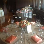 wedding reception in the fireplace room