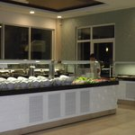 salad bar in the dining room