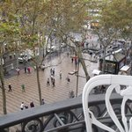 view of Las Ramblas from room