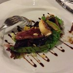 Duck and goat's cheese salad, delish!