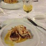 Fish course, with fino en rama