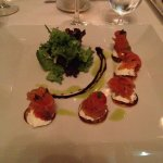 Graved Salmon with creme fraiche