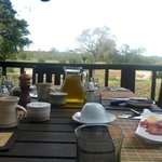 Where Breakfast was Served - overlooking watering hole