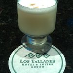 Complimentary pisco sour upon check-in at Los Tallanes