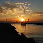 Sunset over Sani Asterias