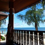 point de vue depuis la terrasse du bungalow