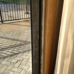 non working patio door....nice hole