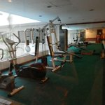 Mini gym beside hotel pool