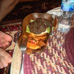 Camel Burger, excuse the toes
