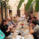 Courtyard breakfast