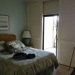 Bedroom with view of ocean.