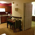 To table, kitchen and bedroom