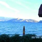 Blick von der Strandpromenade Baska