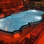 Swimming pool on second floor