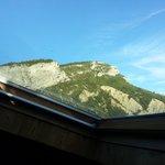 vue depuis la fenêtre de toit