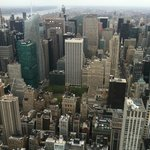 View of Hotel from Empire State Building (White/Green building in bottom of pic)
