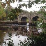 The foot bridge at Swan Lake