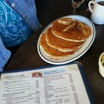 Pancake sampler (blueberry, cranberry and poached pears)