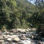 Cachoeiras na trilha fria