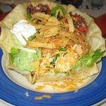Grande Taco Salad w/pulled chicken--delicious!!!