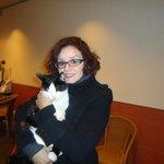 Le charmant chat qui nous a accueillis à l'entrée!